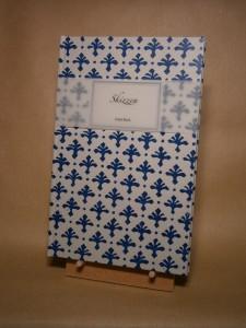 Hand-Buch Einband mit Linoldruck