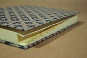 Adressbuch Din A 5 Linoldruck auf Leinen