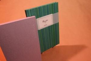 HandBuch, blanko 12 x 18,5 cm  Kleisterpapier
