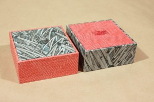 Kästchen 10 x 10 cm Kleisterpapier